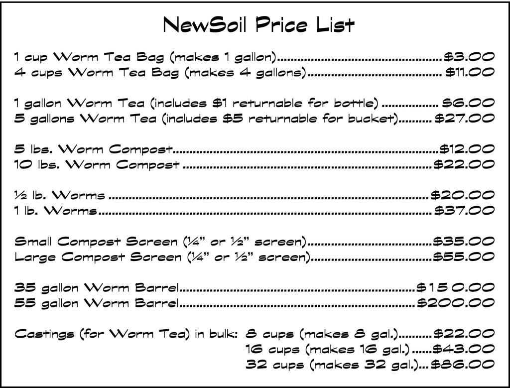 NewSoil-Price-List-2016